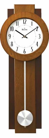 Bulova C3383 Avent Contemporary Wall Clock - The Clock Depot