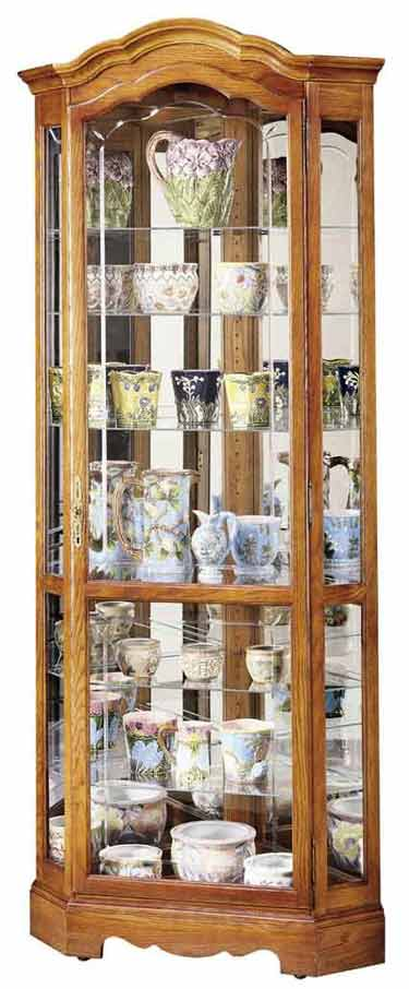Howard Miller Jamestown II 680250 Oak Corner Curio Cabinet