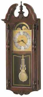 Howard Miller 625253 Everett Chiming Wall Clock with Free