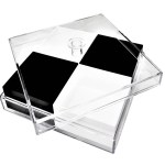 Acrylic 4 Sectional Snack Serving Tray With Lid