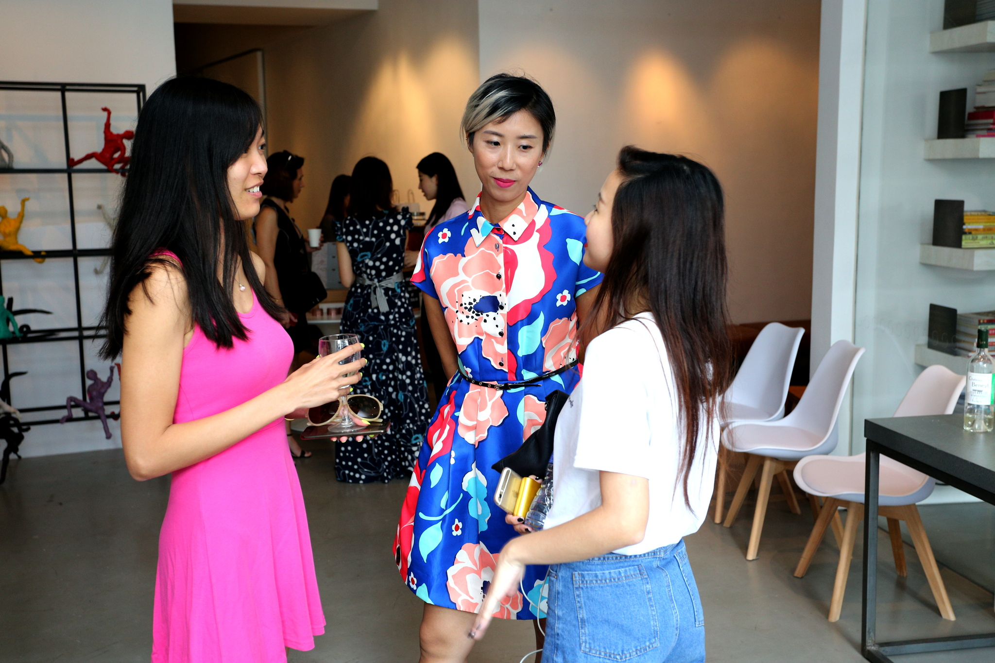 Special Projects Contributor Hayley Lyla with Pandie Ho and guest