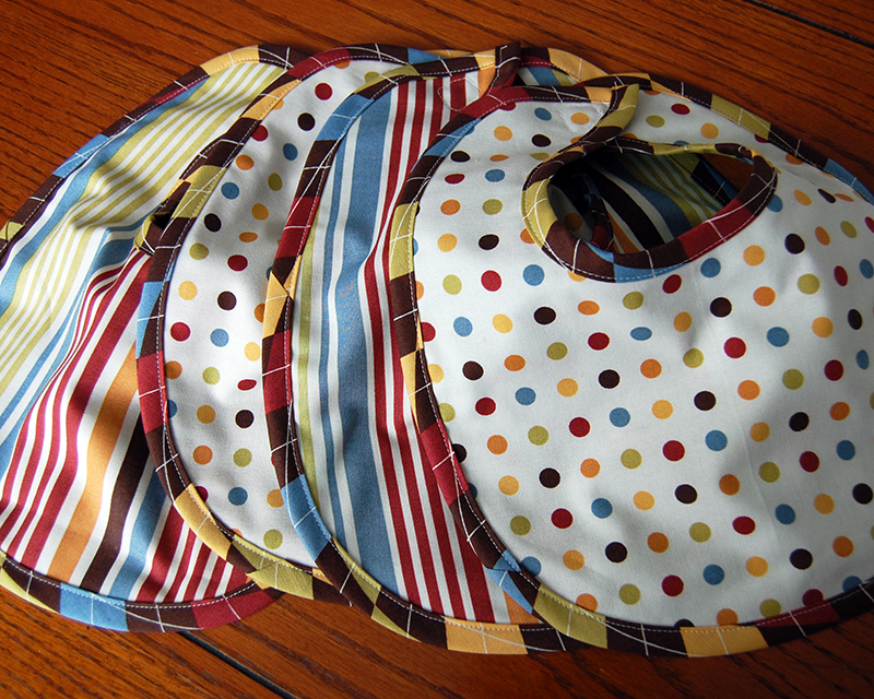 Baby bibs with bias tape