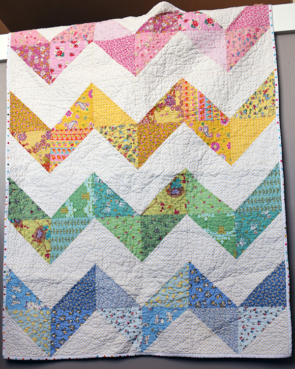 Chunky Chevron Baby Quilt