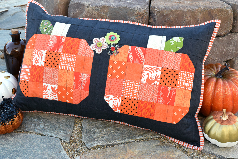 Halloween Pumpkins Porch Pillow