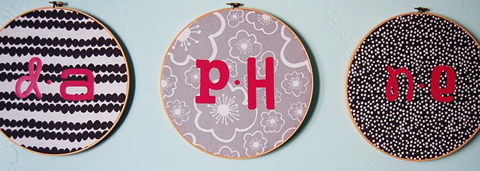 Make This: Embroidery Hoop Name Art Tutorial