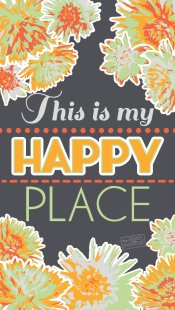 Happy-Place-Phone-Background Dark Gray