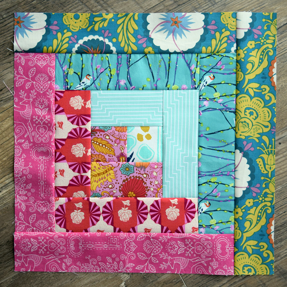 Make This Log Cabin Quilt Block Tutorial