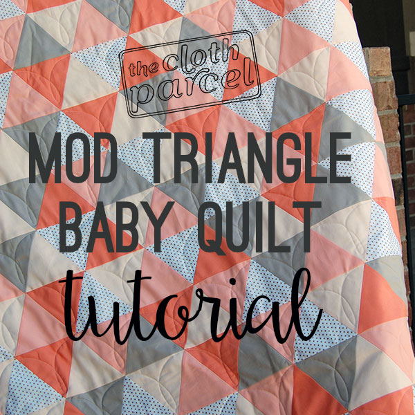 Make This Mod Triangle Baby Quilt Tutorial