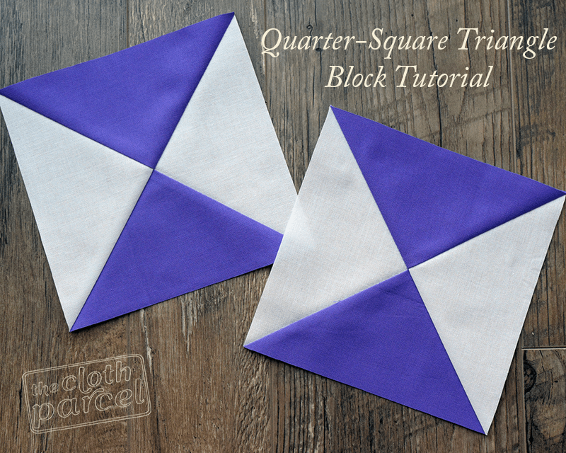 Quarter Square Triangle Block Tutorial by The Cloth Parcel
