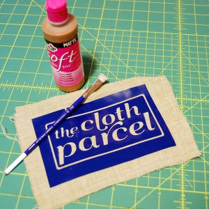 Stencil on Fabric with Vinyl