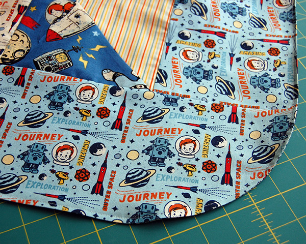 Top stitch all the way around with a 1/8u2033 seam making sure to catch the opening you left when turning. The blanket portion of the canopy is done! & Make This: Car Seat Canopy Tutorial