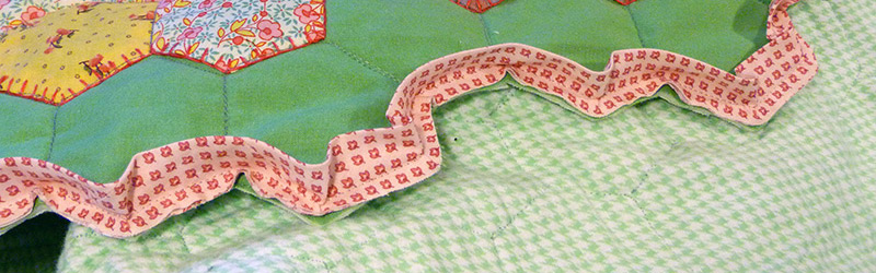 Make This: Grandmother's Flower Garden Hexagon Binding Tutorial