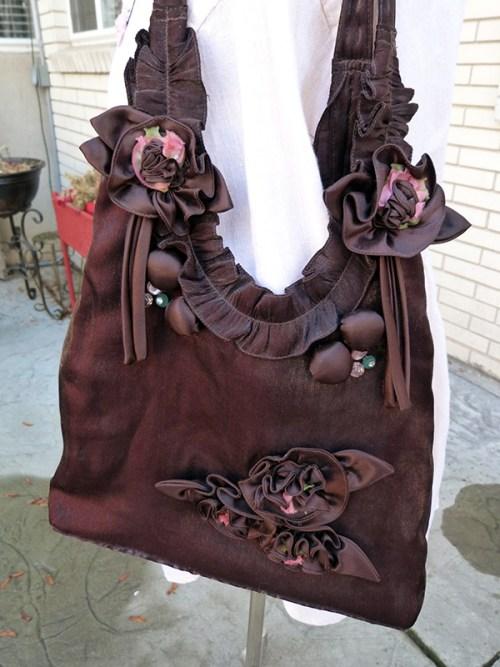embellished brown purse