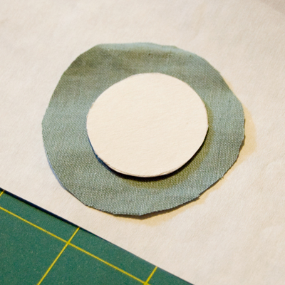 Fabric and Paper Circles