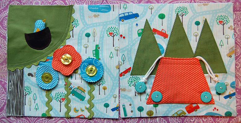 Make This Let S Go Camping Quiet Book Pages Tutorial