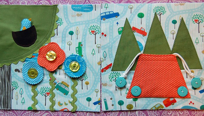 Make This: Let's Go Camping Quiet Book Pages Tutorial