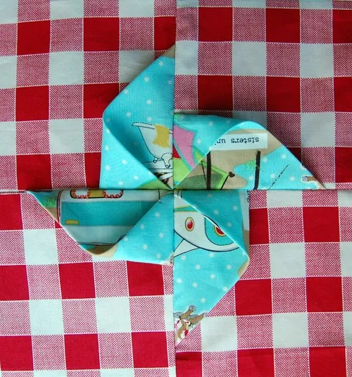 Folded Pinwheel Step 5