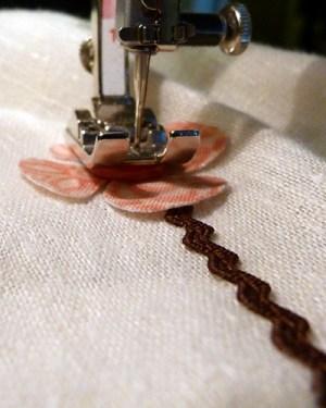 sew on flowers