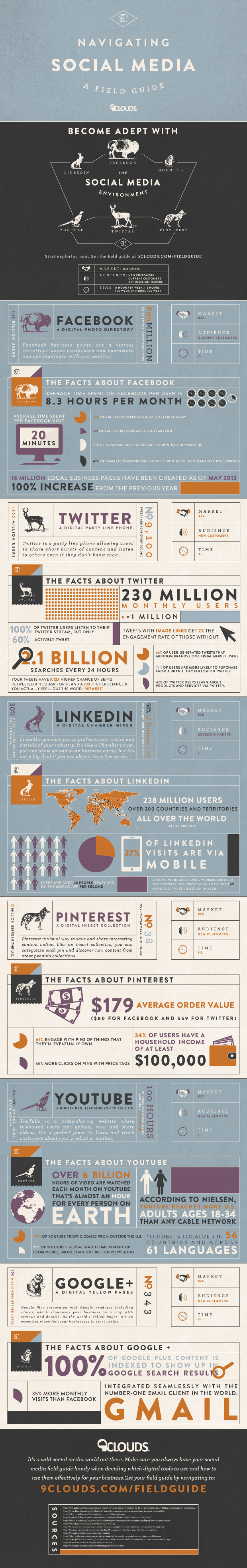 Social media cloud infographic