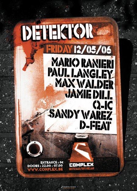 Detektor @ Complex (Sint-Niklaas) le vendredi 12 mai 2006