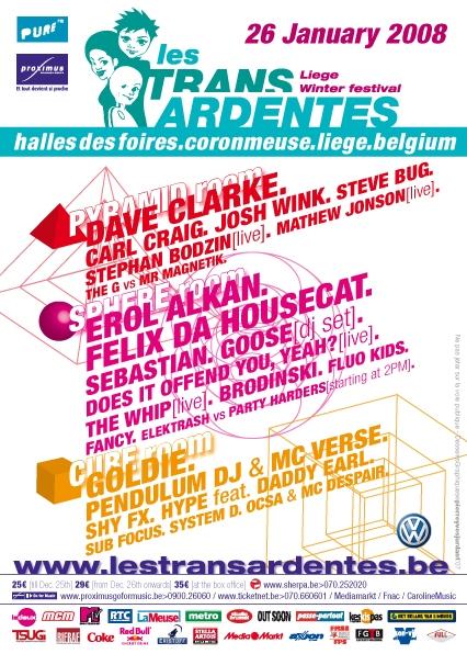 Festival les TransArdentes @ Halles des Foires de Liège le 26 janvier 2008