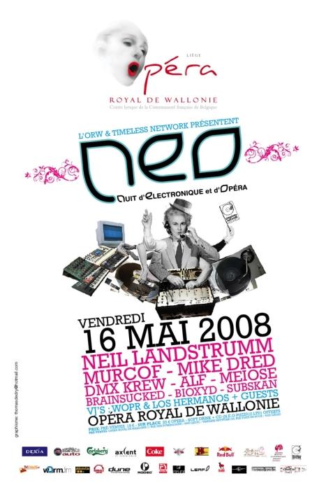 NEO - Nuit d'Electronique et d'Opéra @ Opéra Royal de Wallonie (Liège) le 16 mai 2008