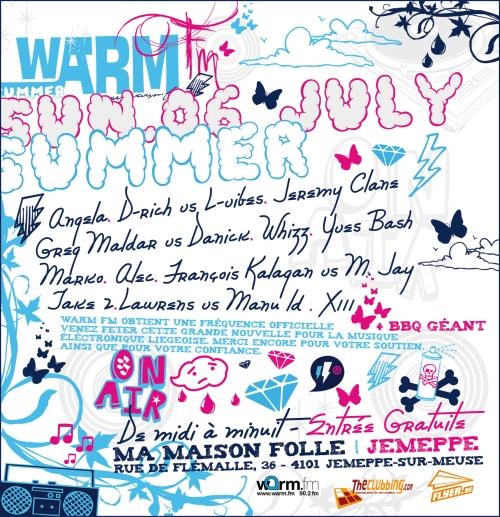 Warm Summer @ Ma Maison Folle (Jemeppe) le dimanche 6 juillet 08