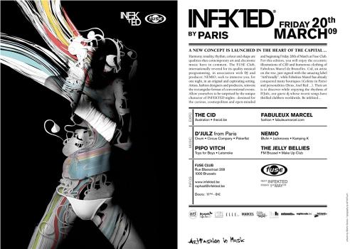 Le Fuse et Nemio présentent Infekted By Paris au Fuse avec D'Julz le vendredi 20 mars 2009