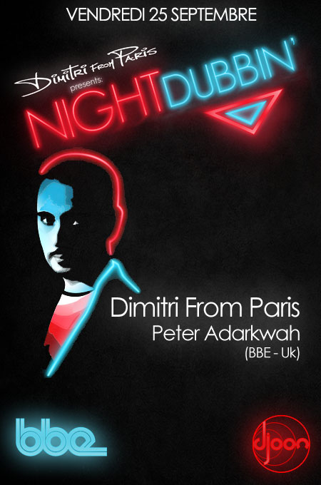 Dimitri From Paris présente Night Dubbin' ce vendredi 25 septembre au Djoon (Paris)