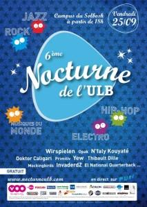 La sixième édition de La Nocturne de l'ULB aura lieu ce vendredi 25 septembre 2009