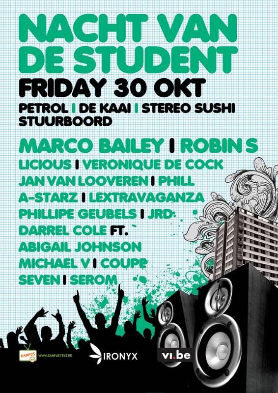 L'édition 2009 de De Nacht Van Student aura lieu ce vendredi 30 octobre à Anvers