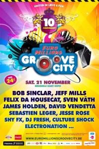 Une décennie de Groove City ce 21 novembre 2009 à BruxellesUne décennie de Groove City ce 21 novembre 2009 à Bruxelles