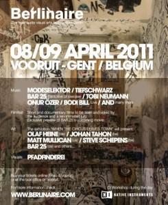 Berlinaire, le nouveau festival gantois ce 8 et 9 avril 2011