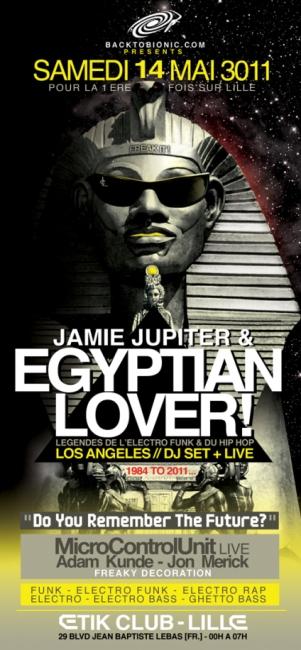 Egyptian Lovee, la légende de l'Electro Funk à l'Etik Club ce samedi 14 mai