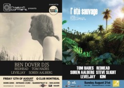 Deux soirées Rhythm Converted avec Tom Hades en août