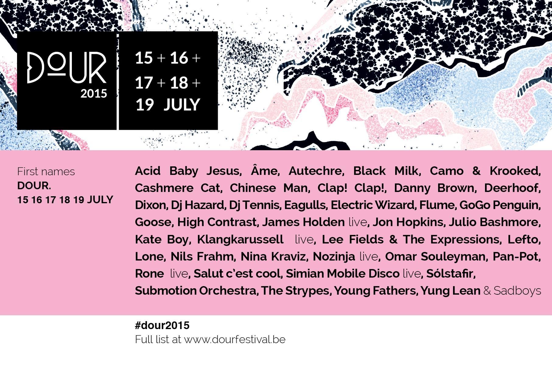 Dour Festival 2015 Lineup 40 premiers noms