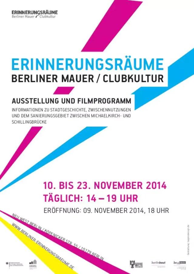 Flyer 9. Novenber 2014 Erinnerungsraeume Mauer Clukultur S.2