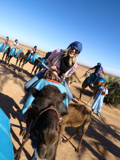 girl riding a camel in Morocco; 2016 Sucked and This is What I Learned From It