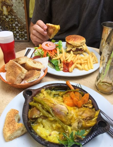 Chicken tajine, fries and camel burger in Morocco - 48 Hours in Marrakesh Guide