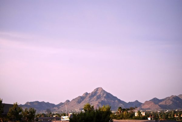 Phoenix Mountains - view from Clarendon Hotel and Spa