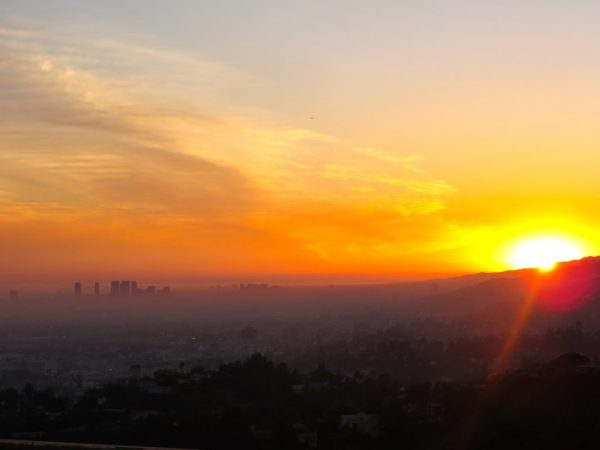48 Hours in Los Angeles; sunset over Los Angeles from the Griffith Observatory