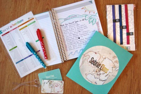 Best Travel Gift Ideas; erin condren notebooks