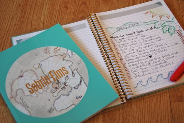 4 Stylish Hacks to Stay Organized While Traveling featuring Erin Condren lifeplanner and journal