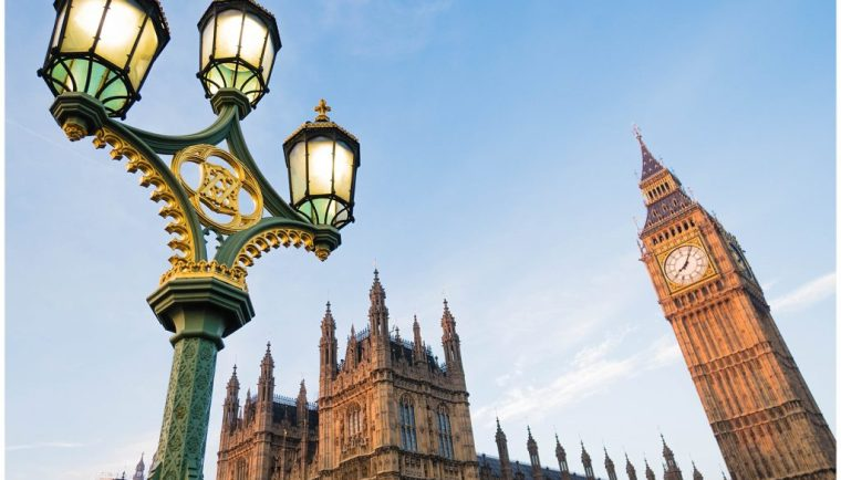 48 Hours in London; street lamp and Big Ben