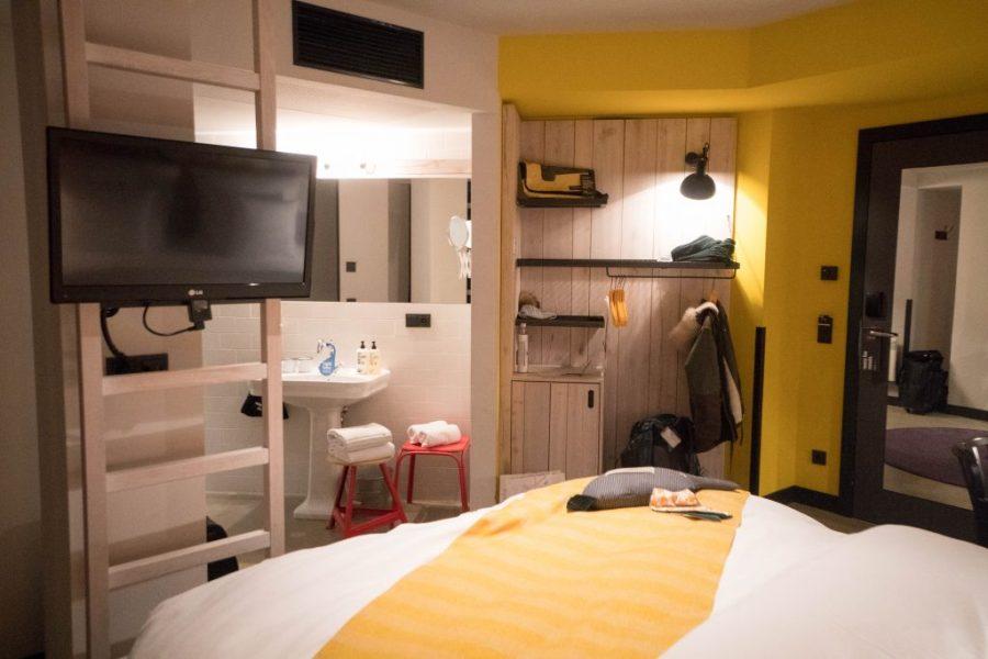 25Hours Hotel at the Museum Quarter Vienna Austria; interior hotel room circus