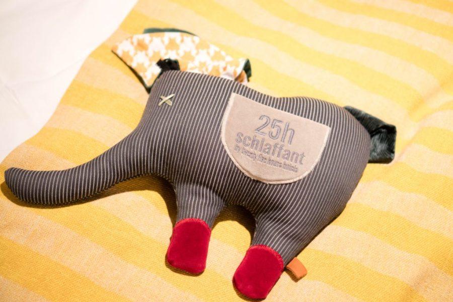 25Hours Hotel at the Museum Quarter Vienna Austria; interior elephant stuffed animal