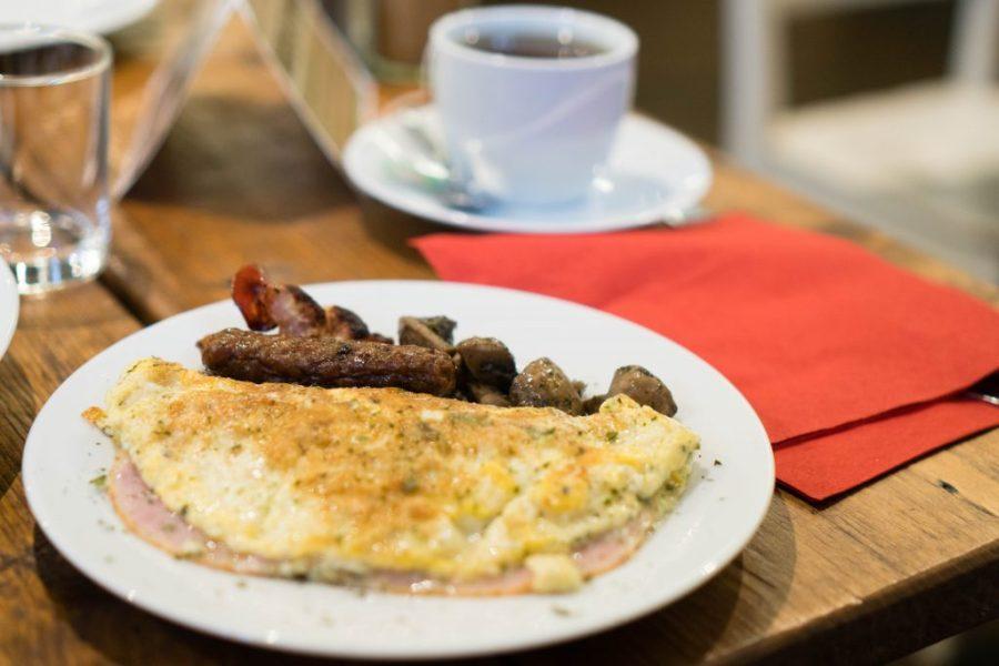 Miss Sophie's Hotel Prague breakfast buffet omelette and tea