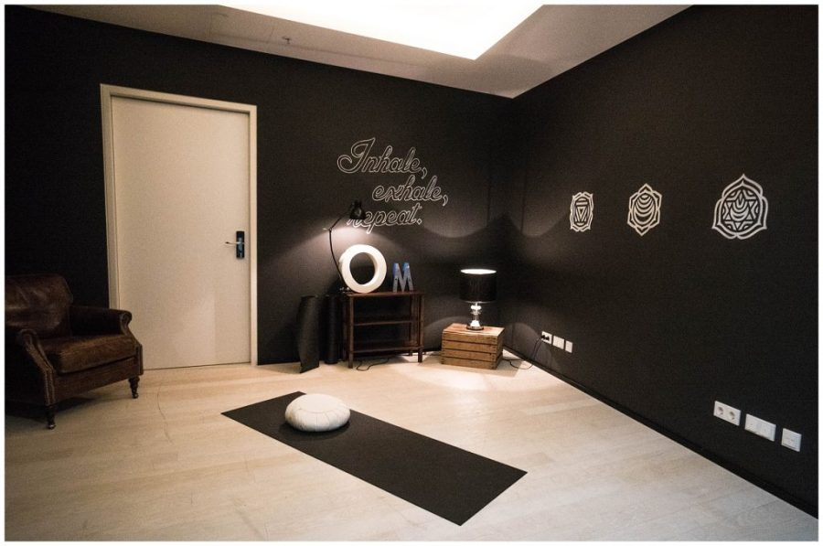 Staying at Ruby Marie; yoga studio