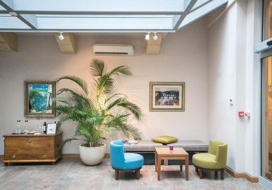Staying at Hotel Golden Key; hotel lobby interior