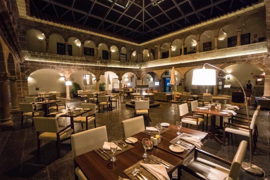 Novotel Cusco; evening interior lobby